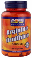 Аргинин NOW L-arginine/L-ornithine 100 капс.